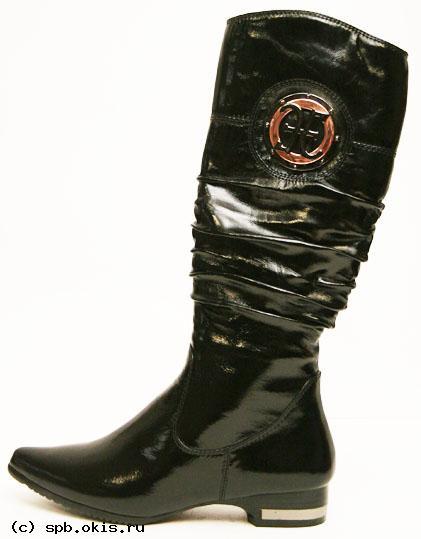 Read more.  Красивые, модные женские кожаные сапоги в магазине...
